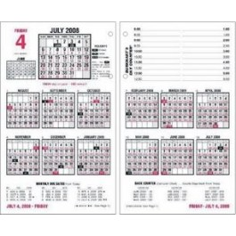 "Desk Calendar Refill, Jan-Dec,4-1/2"" x 7-3/8"""